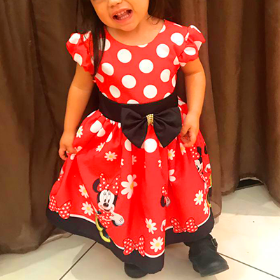 Vestido Infantil Estampado | Girrafas