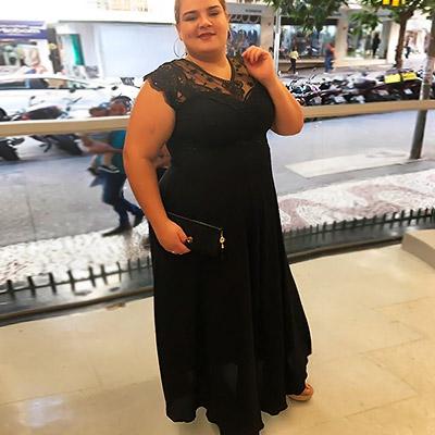 Vestido Longo de Festa | Lili Elegância Plus