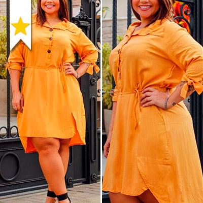 Vestido Plus Size Feminino   Eliane Dias Moda