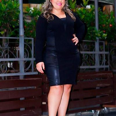 Vestido Plus Size Preto | Lili Elegância Plus