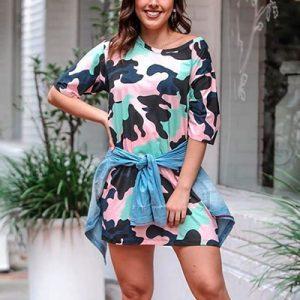 Vestido T-Shirt Feminino | Paraíso Fashion