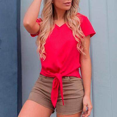 Blusa Canelada Feminina   Ilana Santana Store