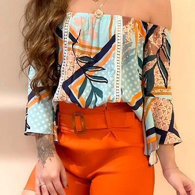 Blusa Ciganinha Tropical | Vianna Store