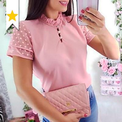 Blusa Feminina Rosa | IV Estações Store