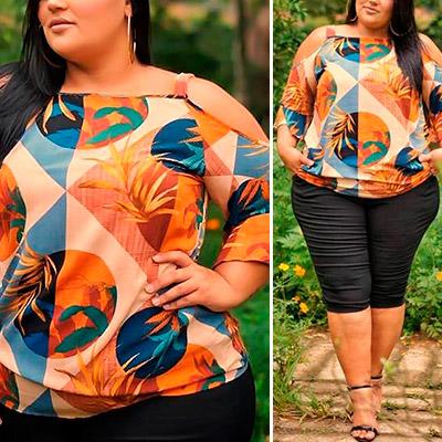 Blusa Plus Size | Lili Elegância Plus