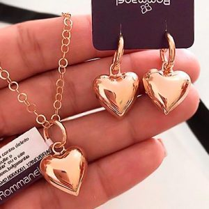 Brinco de Coração Rommanel | Duquesa Semijoias Rommanel