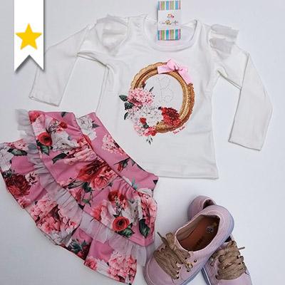Conjunto Floral Infantil | Fino Afeto Moda Infantil
