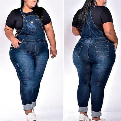 Macacão Jeans Plus Size | Lili Elegância Plus