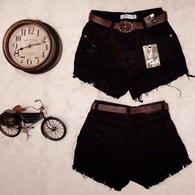 Short Jeans Preto   QBonita Moda Feminina