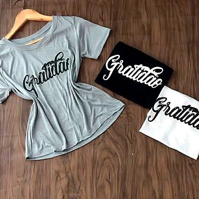 T Shirt Feminina Gratidão | Girl Boss