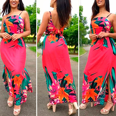 Vestido Floral Feminino | Guimel Modas