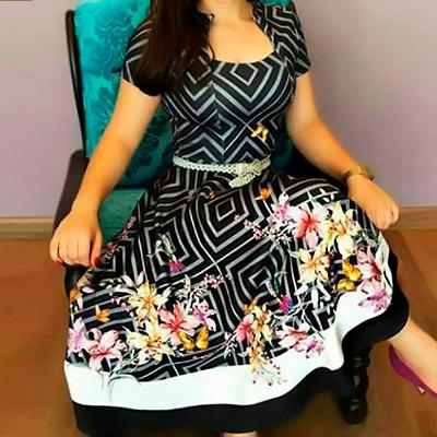 Vestido Godê Floral | Fina e Bela