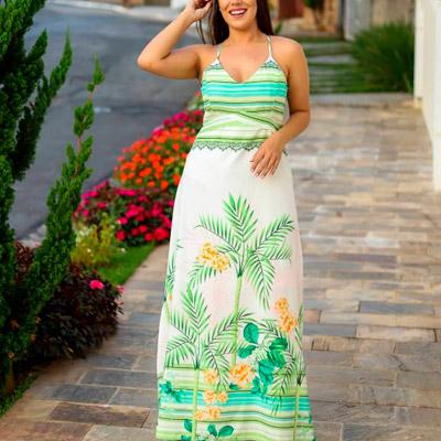 Vestido Longo Tropical | Barcellos & Maia