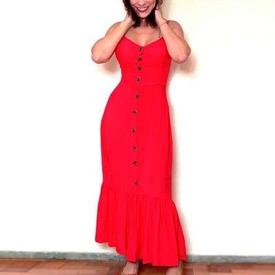 Vestido Longo Vermelho | Passarela da Moda