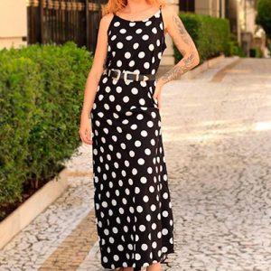Vestido Longo de Poá | Vianna Store