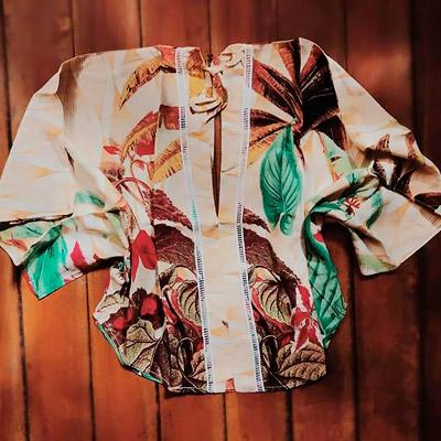 Blusa Estampa Tropical | Conexão Modas