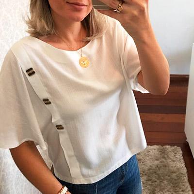 Blusa Feminina Branca | Bia Boroni