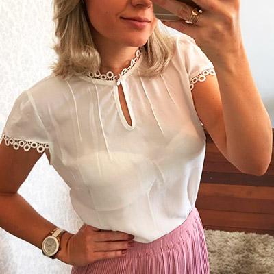 Blusa Feminina Branca   Bia Boroni