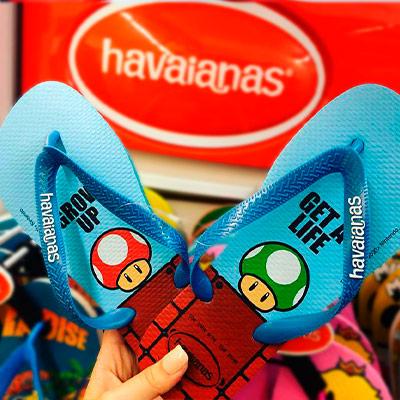 Chinelos Havaianas Mario Bros