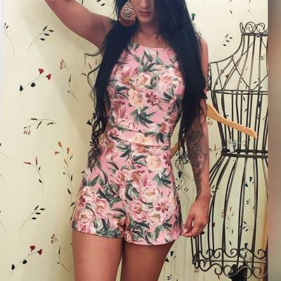 Macaquinho Floral Feminino | Ella Bella