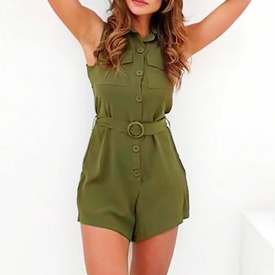 Macaquinho Verde Militar | Cah Boutique