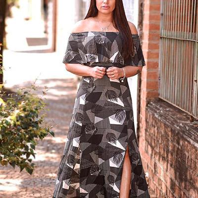 Vestido Ciganinha Longo   Rose Moda Feminina