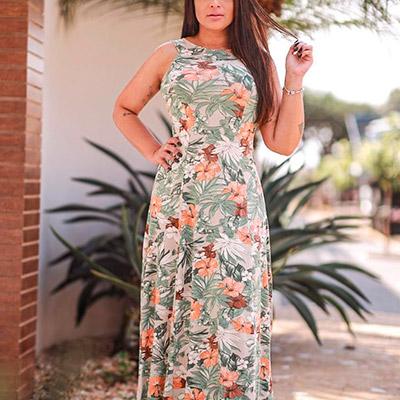 Vestido Longo Floral | Rose Moda Feminina