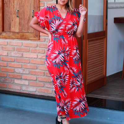 Vestido Longo Floral   Letícia Rios
