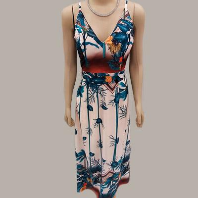 Vestido Longo Floral | Cardoso Brito e Modas