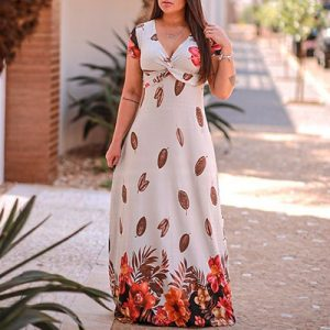 Vestido Longo Transpassado   Rose Moda Feminina