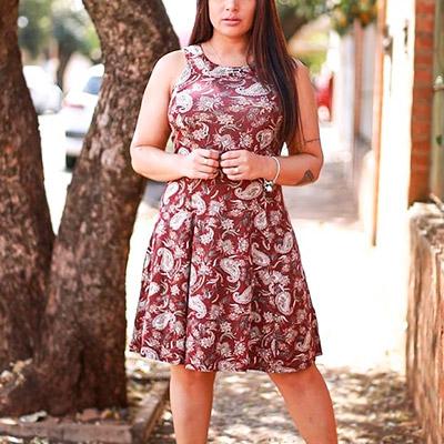 Vestido Transpassado Floral   Rose Moda Feminina