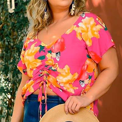 Blusa Viscose Estampada | Florinda Boutique