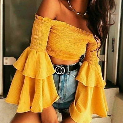 Cropped Lastex Mellow Yellow   Cláudia Modas – Xicosa