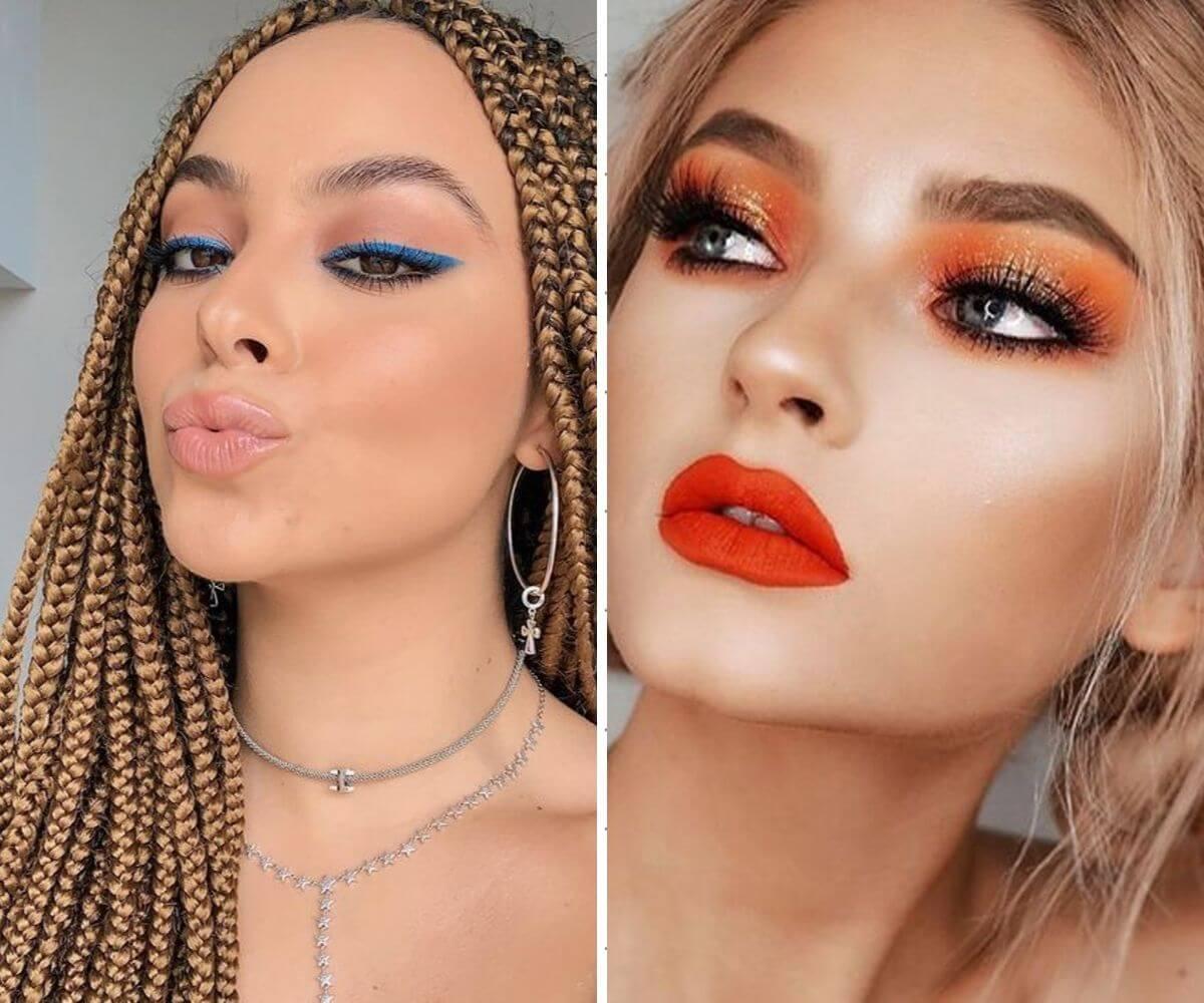 Como usar maquiagem primavera verão 2020 sombras coloridas