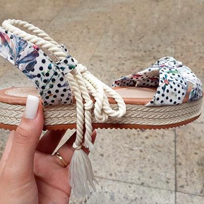 Sandália Flatform Poá | R.S Store