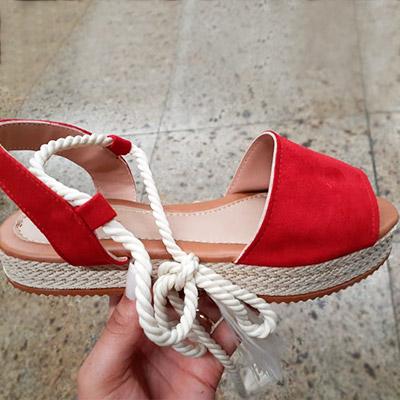 Sandália Flatform Vermelha | R.S Store
