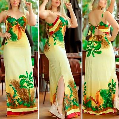 Vestido Longo Feminino   Dema Modas