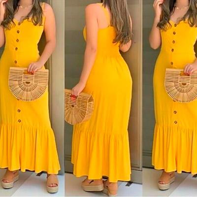 Vestido Longo Midi   Cláudia Modas – Xicosa