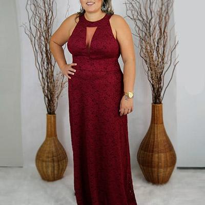 Vestido Longo de Festa | Lilás Moda