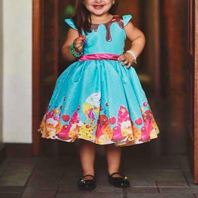 Vestido Infantil Estampado | Luxos Da Lara