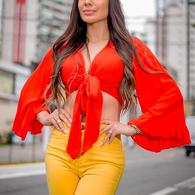 Cropped Manga Longa | Linda Morena Moda Feminina
