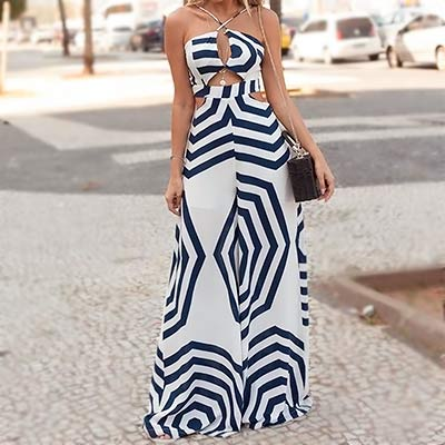 Macacão Longo Estampado | Luxurious girls