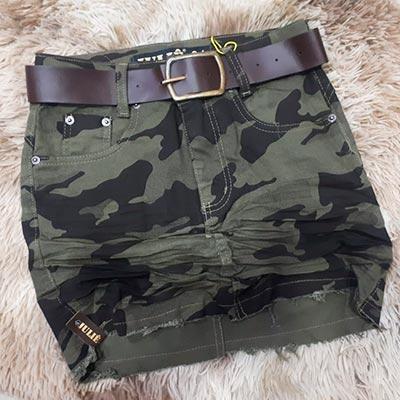 Saia Jeans Militar | Melhor do Jeans