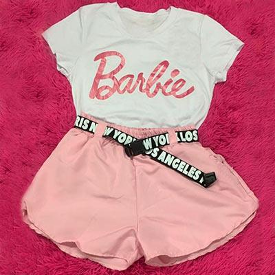 Short Infantil com cinto   Barbie Girl Store