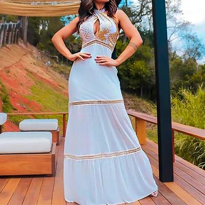 Vestido Longo Luxo | Morena Flor