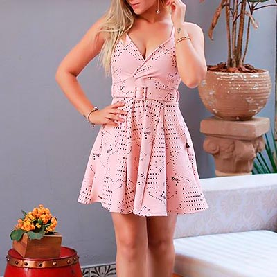 Vestido Godê Alcinha | Rosa Bella Moda Feminina