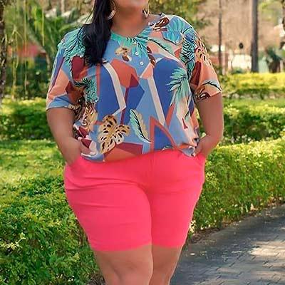 Blusa Feminina Estampada | Lili Elegância Plus