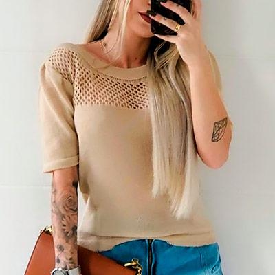 Blusa Tricô Vazada | Liz Jeans