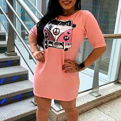 Camisetão Feminino Estampado | Grazy Fashion Modas