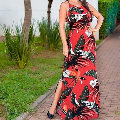 Vestido Longo Fenda | Pieza Rara